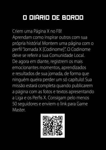 Carta de jogo Jornada X